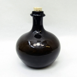 17th Century Large Onion Bottle - Hand Blown Glass