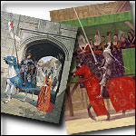 Medieval Greeting Cards from Original Paintings in Sets. Great for Christmas Cards