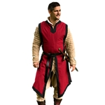 Medieval Tabard Red with Black Trim
