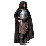 Medieval Knight's Cloak - Black Cotton