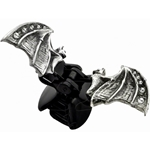 Crystal Hair Bat Clip  Pewter Alchemy HH6