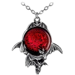 Blood Moon Pendant Pewter Alchemy P447