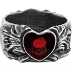 Broken Heart Ring Pewter Alchemy R123