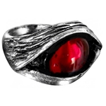 Eye of the Devil Ring Pewter Alchemy R24