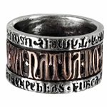 Deus Et Natura Ring Pewter Alchemy R73