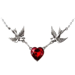 Swallow Heart Necklace Pewter Alchemy ULFP1