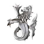 Pewter Sea Lion or Merlion Brooch 106.0330