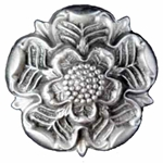 Pewter Tudor Rose Brooch 106.1152