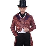 Gentleman's Purple Brocade Tailcoat   C1280