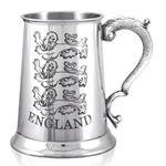 England Three Lion One Pint Pewter Tankard