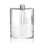 Half Hammered Pewter Flask 6 Ounces