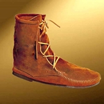Mens Low Suede Boot - Without Fringe