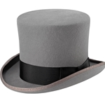 Grey Victorian Top Hat 26-201093