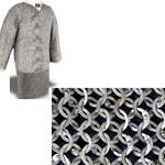 Chain Mail Hauberk, 48 Inch Chest, Flat Rings
