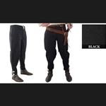 Medieval Ankle Laced Pants, Black, Large