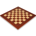 Maple - Mahogany Deluxe Wood Chess Board 2.375 in Squares