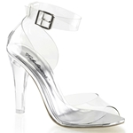 Clear Closed Back Ankle Strap Sandals