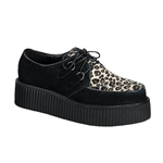 Creeper Cheetah Fur Platform Shoes 34-3185
