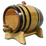 5 Liter Oak Barrel with Black Steel Hoops 37-3009
