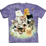10 Kittens Adult T-Shirt 43-1010800