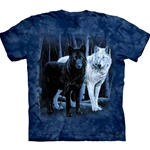 Black and White Wolves Adult 2X-Large T-Shirt 43-1011060