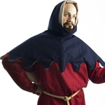 Medieval Hood - Dagged edge - late 14th early 15th Century - Wool