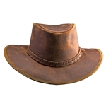 Leather Crusher Hat