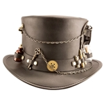 The Time Hopper Leather Hat in Black
