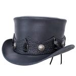 El Dorado Crazy Horse Top Hat - Black