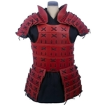 Leather Samurai Armour Red-Black 65-11-41