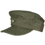 German M44 Waffen SS Wool Field Cap -Single Button - WWII Repro