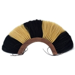 Black and White Roman Plume - Wooden Base