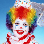 Child's Rainbow Clown Wig 100-141488