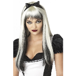 Enchanted Tresses (Black / White) Adult Wig 100-198833