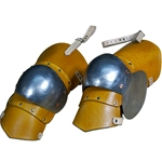 Three Quarter Leather Leg Armor with Steel Knees