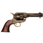 M1873 Single-Action Army Revolver Gold Engraved Non Firing FD1280L