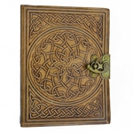 Celtic Leather Journal - Blank Book - 6 X 8 Inches
