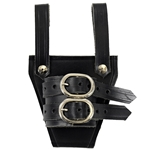 Leather Broadsword Frog - Black