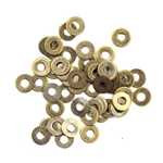 Antiqued Brass Washers - Set of 50