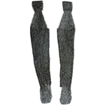 Chainmail Leggings - Alternating Dome Riveted Flat Rings - Mild Steel