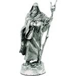 Merlin Figure Bishop Of Arthurian Chess Set