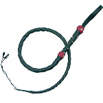 Split Hide Bullwhip Black Mini