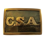 Rectangular Brass Civil War Buckle