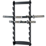 8 Sword Wall Mount Display Black WS-8W