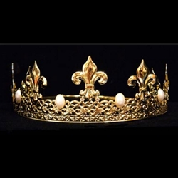 King Crown Gold With Pearls