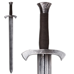 Foot Soldier's LARP Shortsword - Steel Colored Hilt