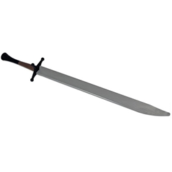Complete Synthetic Langes Messer Sword, Silver Blade