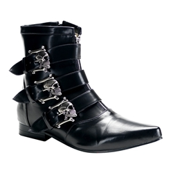 Brogue Men's Skull Buckle Ankle Boots 34-3179
