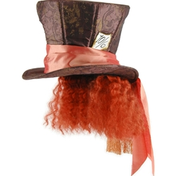 Alice In Wonderland Movie Mad Hatter Hat with Hair