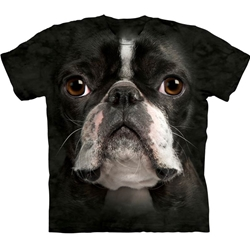 Boston Terrier Face Adult 3X-Large T-Shirt 43-1033670